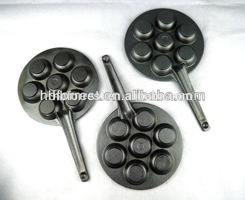 Popular Design for Season Cast Iron Frying Pan - 7pcs round holes Cast Iron Bakeware set – Forrest