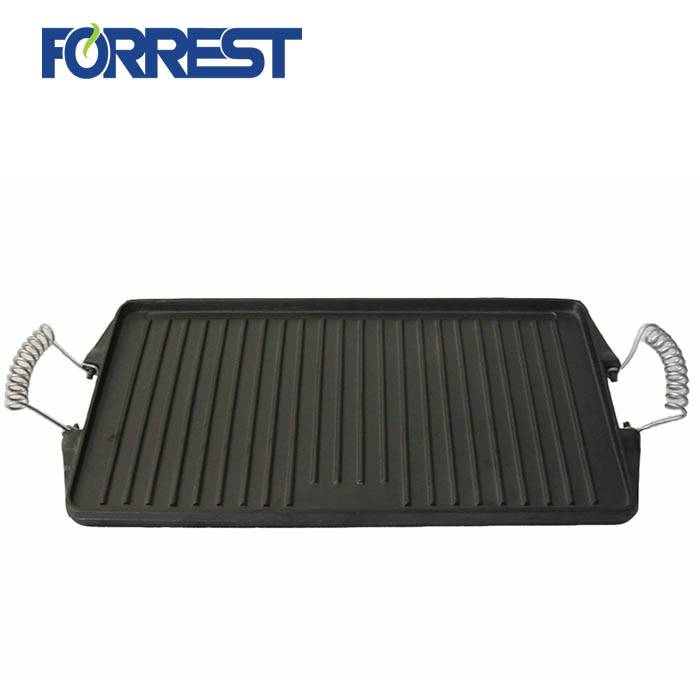 Lowest Price for Cast Iron Stove - Rectangular cast iron griddle bbq grill pan – Forrest