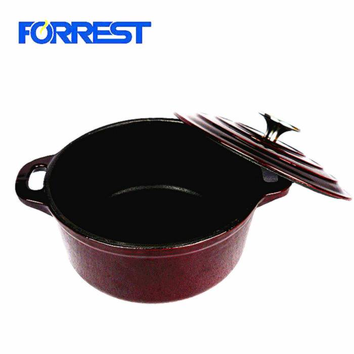 Europe style for Cast Iron Fajita Pan - Heavy Duty Cast Iron Enamel  Cookware set Pot Enamel Cassserole Dish FDA,LFGB,Eurofins approved – Forrest
