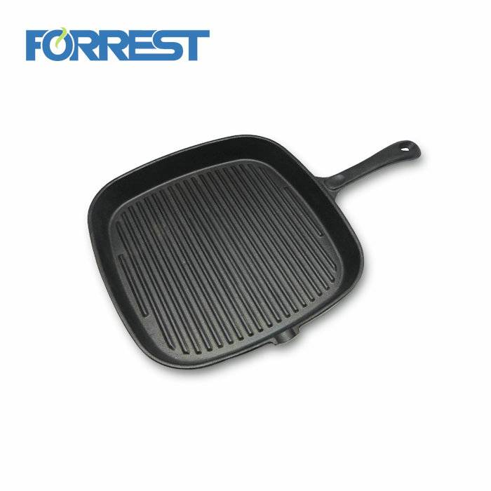 Cast iron griddle fry oven bake pancake eggs grill pan pizza square frying skillet