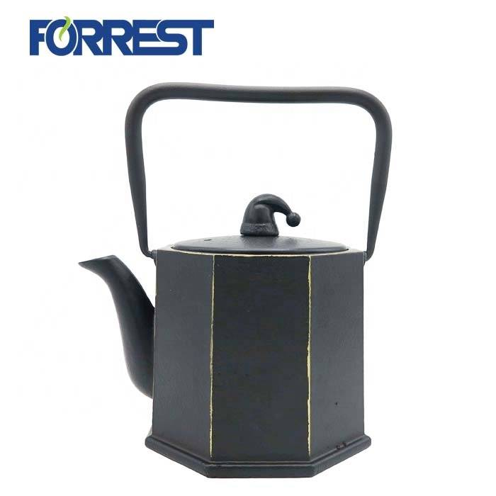 OEM Supply Mini Cast Iron Teapot - 0.8L wholesale enamel  tetsubin cast iron kettle teapot antiqu style – Forrest