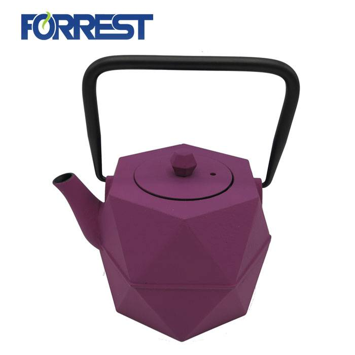 Leading Manufacturer for Cast Iron Burger Press - Cast Iron Tea Kettle Coated with Enamel iron cast teapot – Forrest