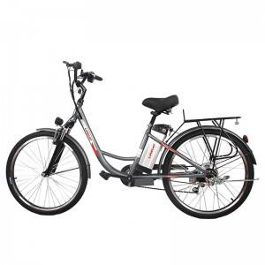 most popular 26 inch white city electric bicycleapproved 7-speed cycle share bikefree shipping ebike city bike ebicycle