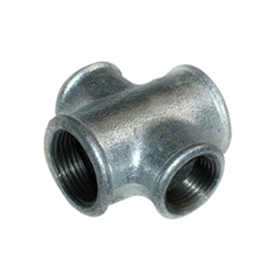 Beaded cross fig no.180 malleable iron pipe fitting