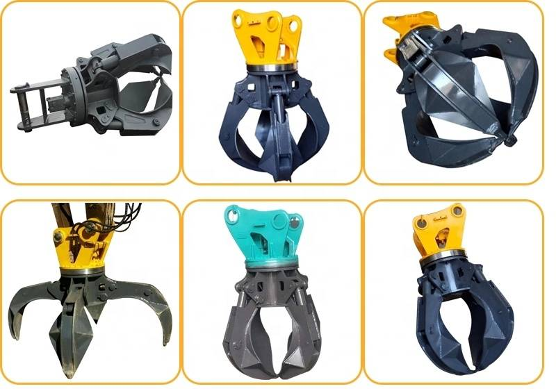 Factory For Soosan Hydraulic Hammer - Excavator mechanical grabber orange peel grapples scrap – Monteono