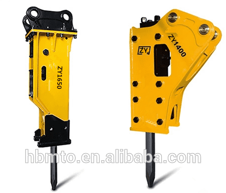China wholesale Jab Hydraulic Breaker - Excavator Attachments Concrete Rock Breaker with Chisel 135mm – Monteono detail pictures