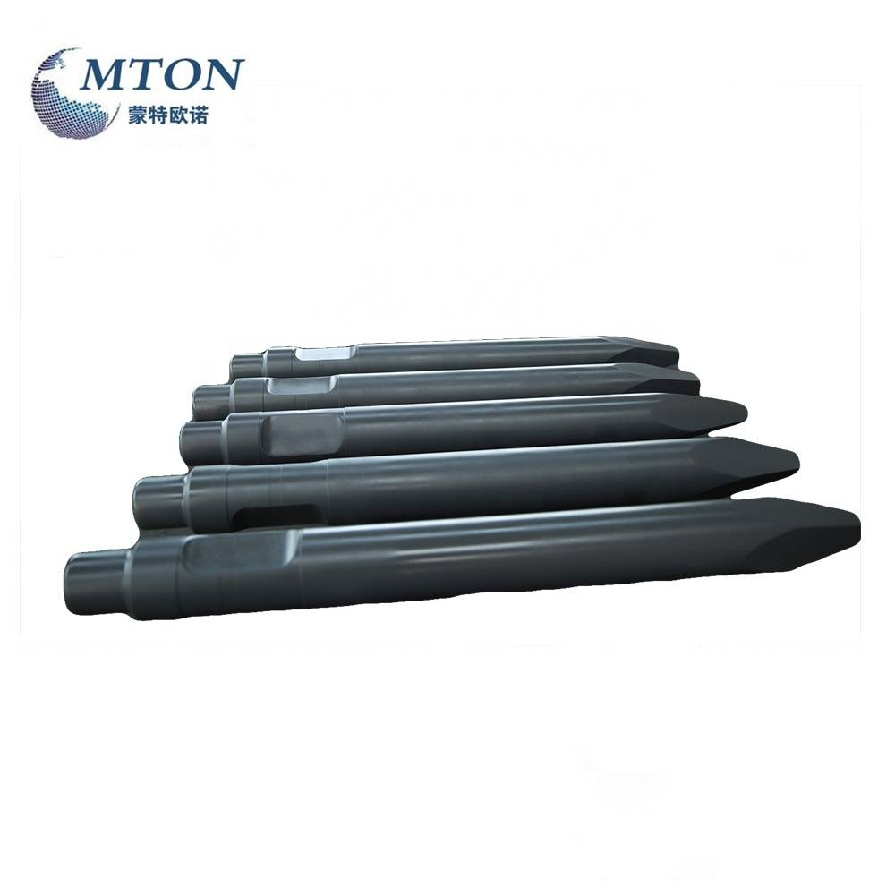 Factory making Hydraulic Rock Breaker Chisels - 42CrMo Materials 109MM Diameter Forging Type Rock Breaker MS520 Chisel – Monteono