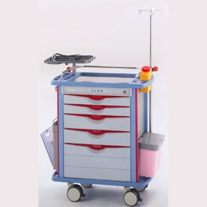 2020 Latest Design Medical Device Trolley – Emergency Trolley – Pukang