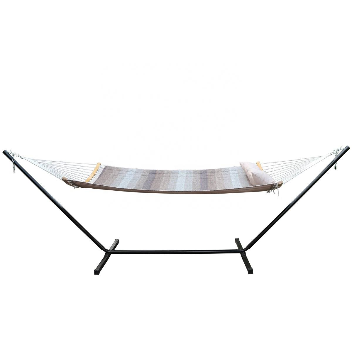 Folding Curved  Bar Portable Hammock with Pillow and Carry Bag Hammock Swing Camping Hammocks