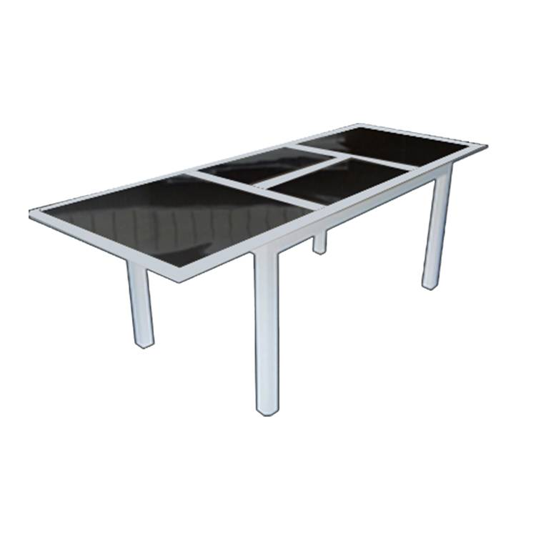 Aluminium And Glass Tretchable Extention Table Equiment
