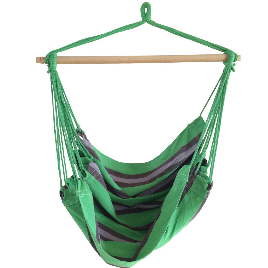 Striped hammock hanging chair without pillows swing hammock chair
