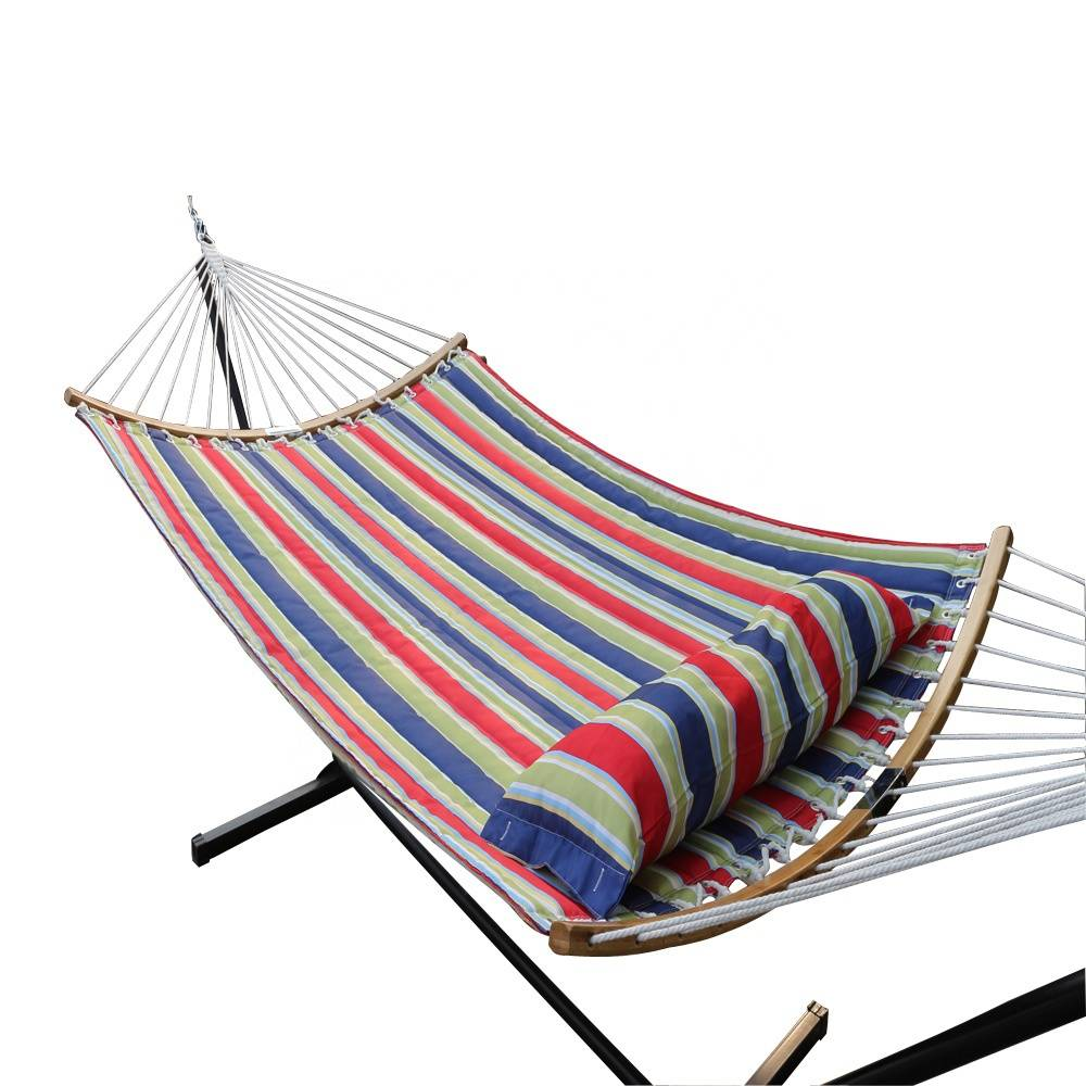 Curved Folding Bar Portable Hammock with Pillow and Carry Bag Hammock Swing