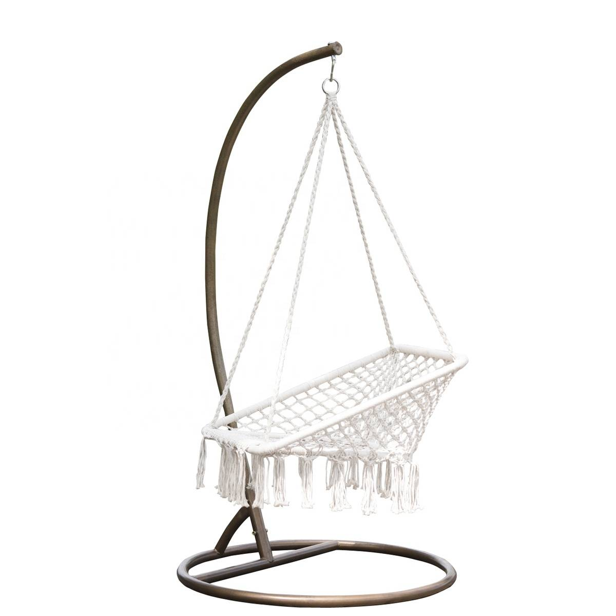 Hanging Square  Hammock Swing Chair, Outdoor Garden Rope Swing Chair