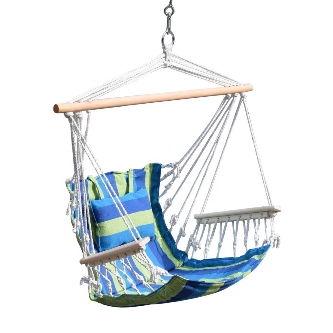 Polycotton hammock chair with woodbar Hammock swing chair
