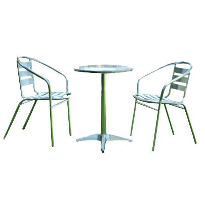 Outdoor garden furniture dinning table set -Bistro set (1pc table + 2pcs chairs)