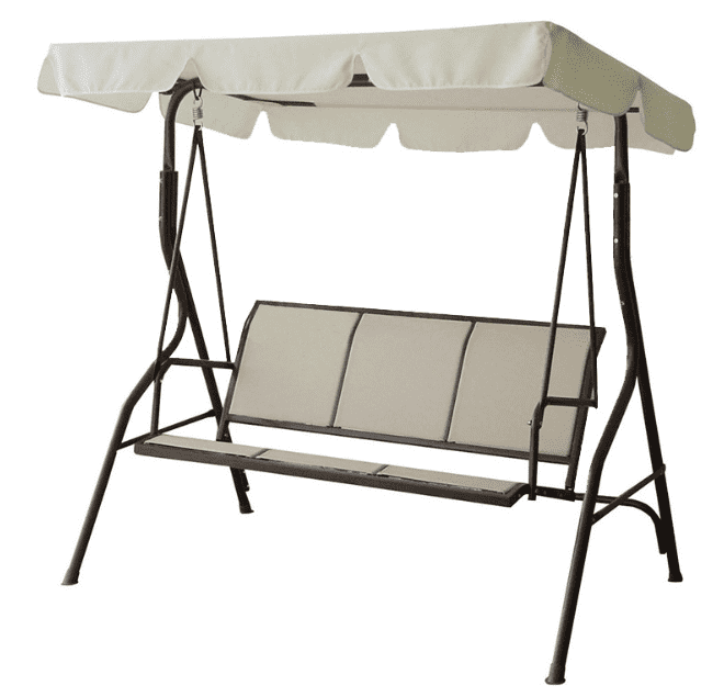 3 Seats canopy swing chair patio garden swings for outdoor backyard and deck