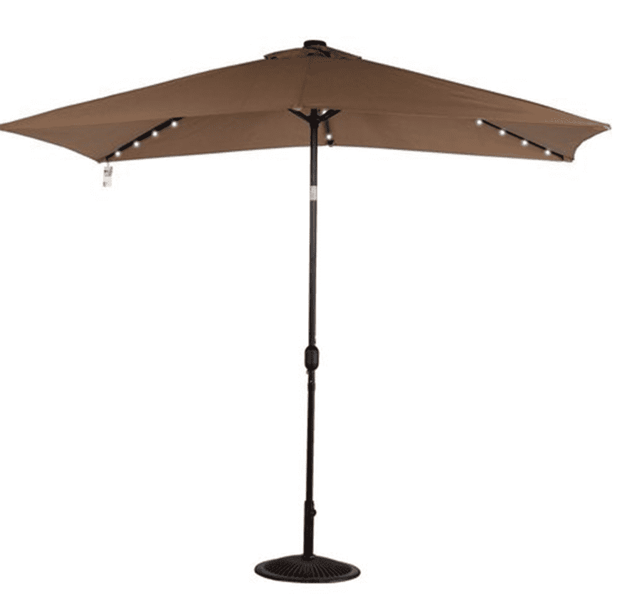Hot Sale Outdoor Patio Square Solar Umbrella Parasol