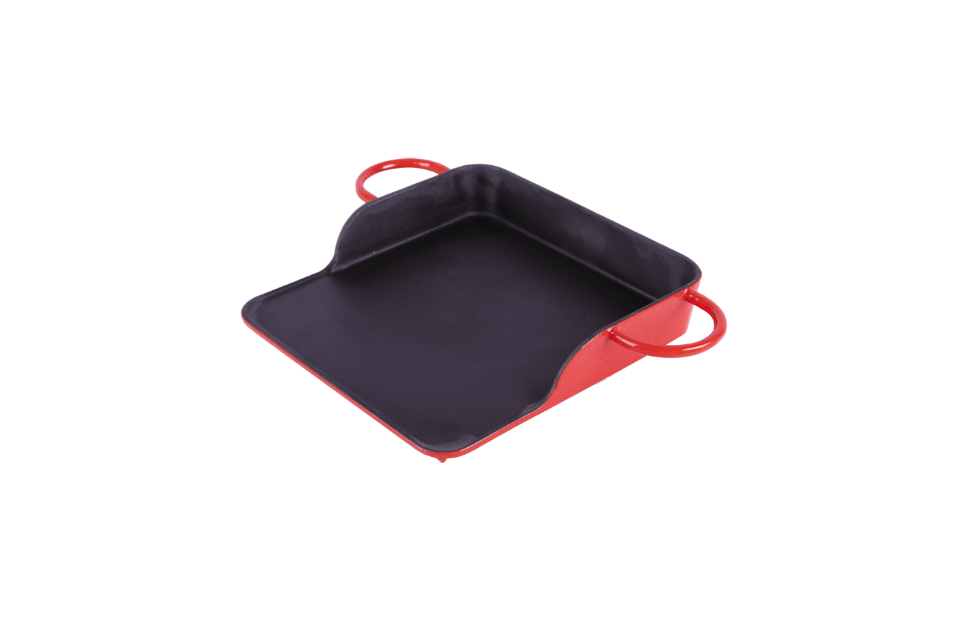 cast iron enameled BBQ grill pans