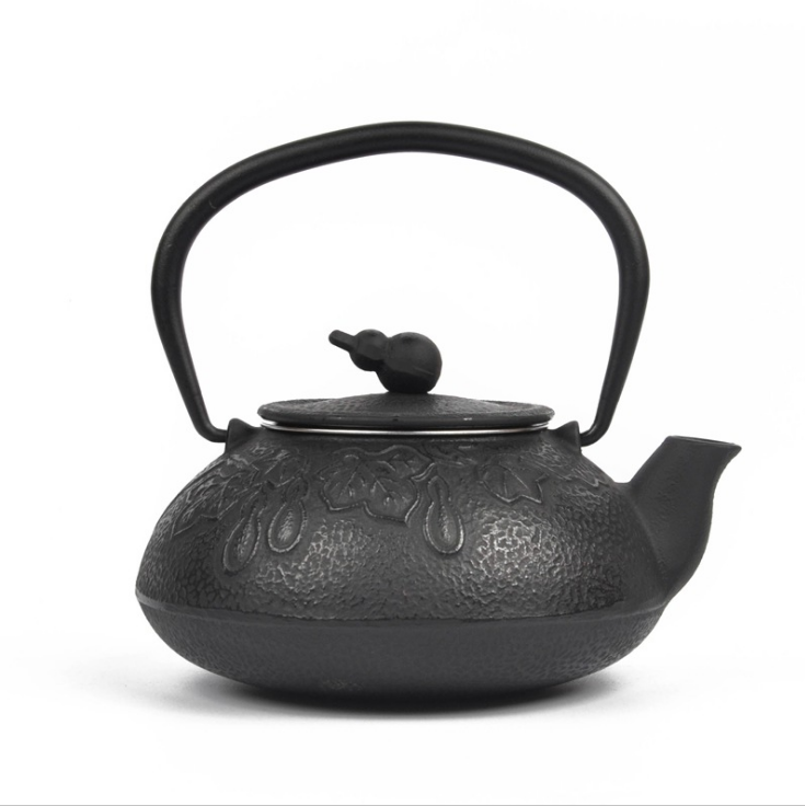 Cast iron teapot enameled