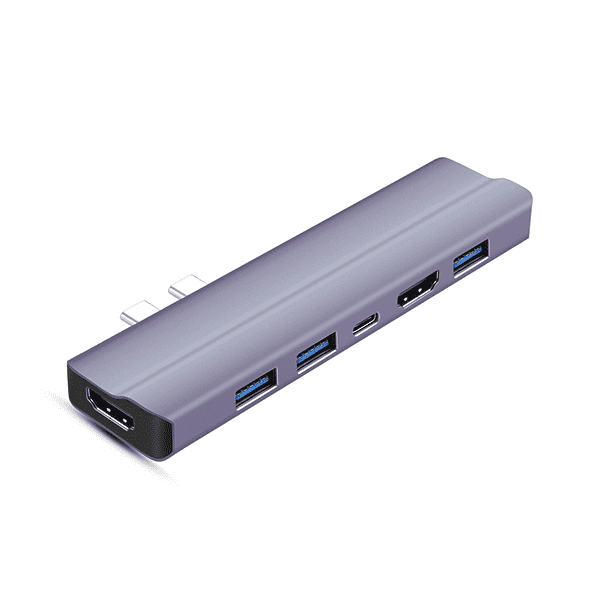 OEM China Usb Hdmi Vga Hub - T28 8 IN 2 Dual HDMI Type C HUB with 2 x HDMI + PD 100W + 3 x USB 3.0 + SD,TF – Huachuang