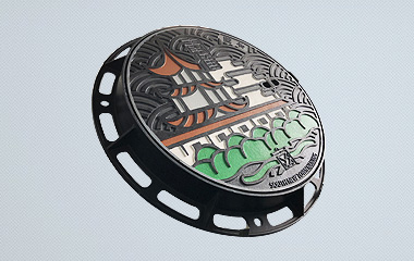 DI Manhole Covers size dia 650mm with coloful culture and history story