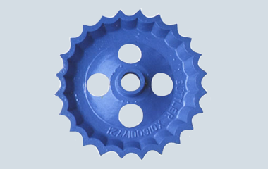 ductile iron flywheel size dia 200mm coated blue paint for the farming machines