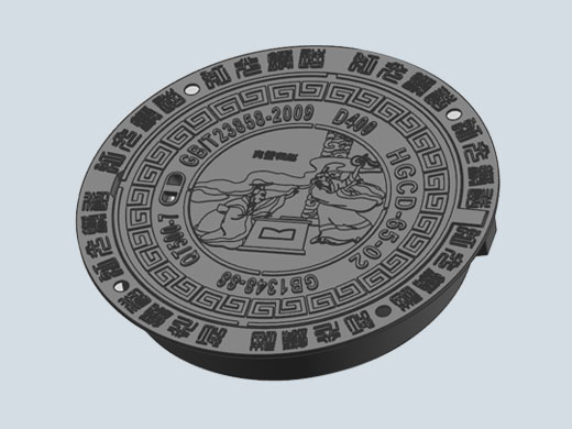 DI Manhole Covers clear opening dia 650mm with culture story