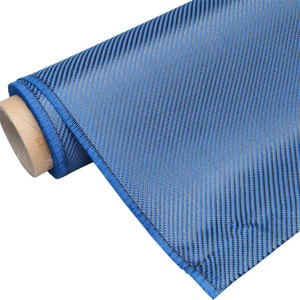 Blue Carbon Fiber Fabric