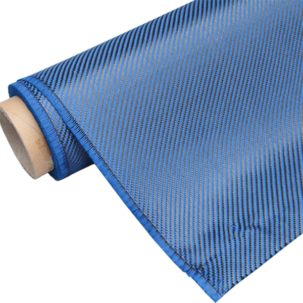 2018 Good Quality Carbon Kevlar Fabric - Blue Carbon Fiber Fabric – Chengyang