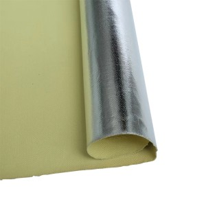 China Cheap price Aluminized Fiberglass Fabric - Aluminum Coated Fiberglass Fabric – Chengyang
