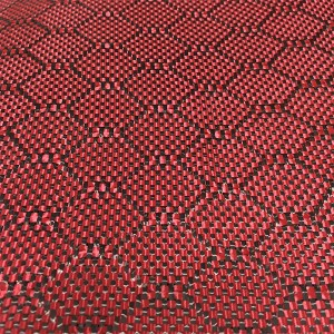 Cheap price 3k Carbon Fiber Weave - Red Carbon Fiber Cloth – Chengyang