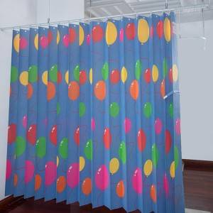 Printed disposable curtains-Balloon