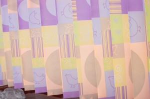 Printed disposable curtains-Sunbird