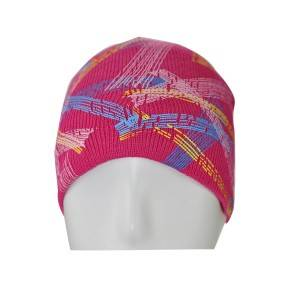 895-3: knitted hat with printing