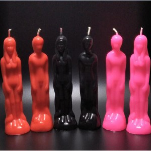 Supply colorful body shape male female human figure candle for magic used