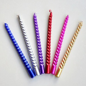 Supply 12inch spiral taper candle for decoration