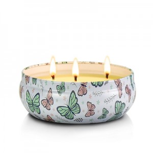 Wedding Lavender 3 Wick Tin Candle Scented for Souvenir Gifts