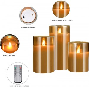 Glass LED Candle