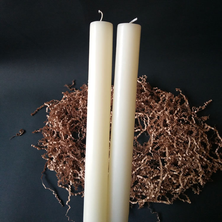 Pillar Candle-4 15 inch long size Vanilla Perfume Oils Paraffin Wax Pillar Stick Candles Featured Image