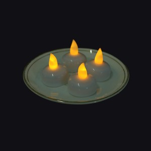 12 LED Floating Tea Waterproof Wedding Party Floral Decoration Flameless Candles