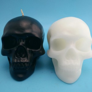 Supply skull shape candle for decoration Halloween