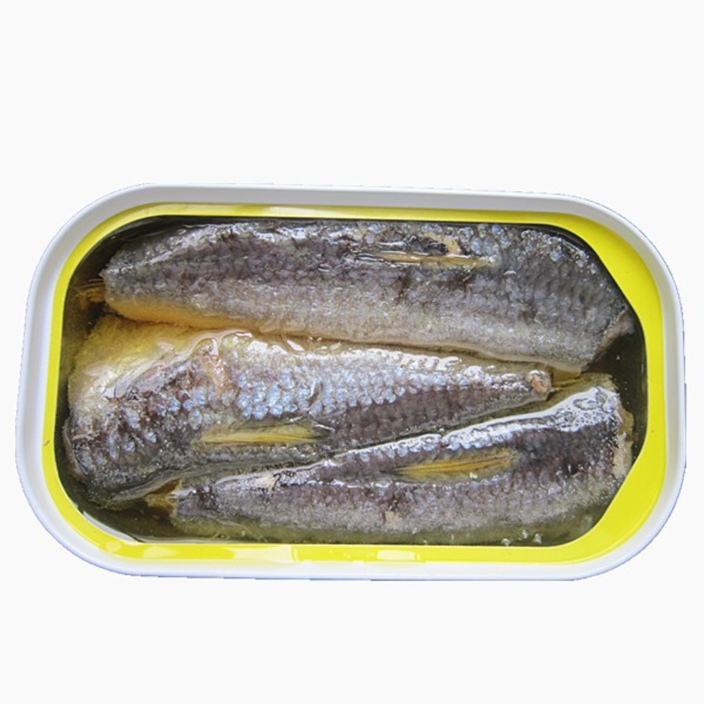 125g Environmentally friendly modern fresh and delicious canned sardines in vegetable oil