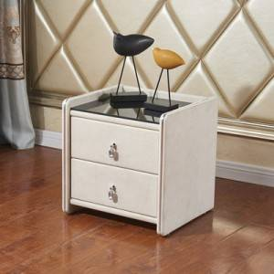 YF-H-214 Nightstands Locker Leather Bedside Table Bedside Table with Drawer Storage Cabinet