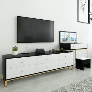 YF-T23 Big drawers Makeup Vanity +TV stand cabinet