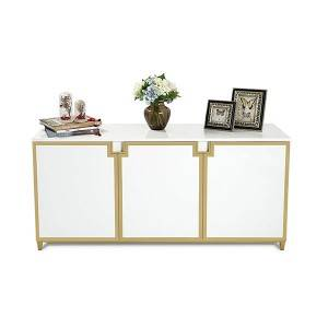 YF-H-801 Luxurious Kitchen Storage Sideboard Cabinet in Gold