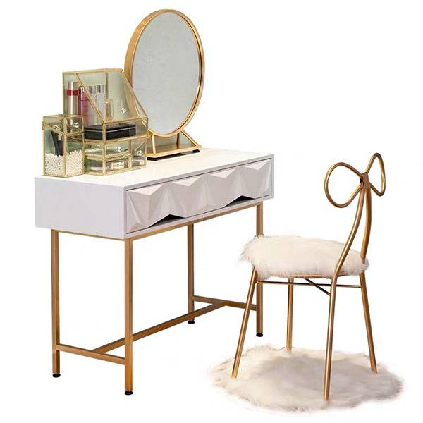YF-T7 Makeup Vanity TableLarge Mirror & Cabinet & DrawerTribesigns Vanity Makeup Table Featured Image