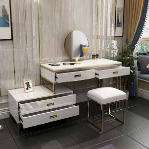 YF-T10 Large Makeup Vanity with Storage Shelves and Drawers