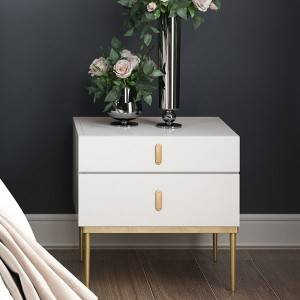YF-H-205 high gloss 2 Drawer Nightstand