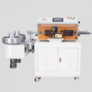 HC-608K1 double layer jacket cable stripping machine