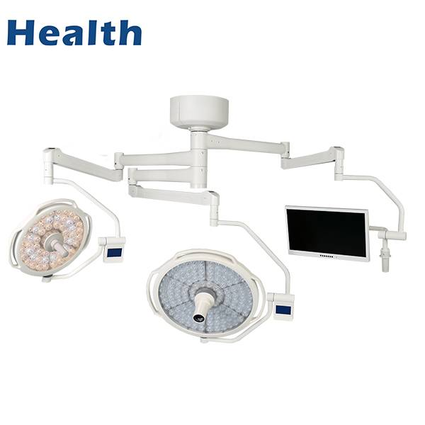 OEM Manufacturer Cold Light Medical Operating Light - LEDD500/700C+M Ceiling LED Double Dome Operating Room Light with Video-Camera – Wanyu